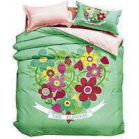 Комплект постельного белья 3D Хлопковый Детский NR 007 Oulaiya 9413 Розовый, Зеленый