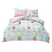 Комплект постельного белья 3D Хлопковый Детский NR 027 Oulaiya 5431 Розовый, Зеленый