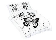 Комплект постельного белья 3D Luna Home NR 010 Oulaiya 3741 Белый, Черный