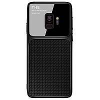TPU чехол Epik Glossy Half для Samsung Galaxy A6 (2018) (Черный)