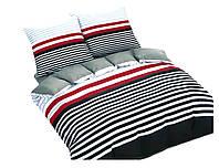 Комплект постельного белья 3D Luna Home NR 017 Oulaiya 3666 Черный, Красный, Серый