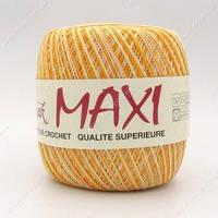 Турецкая пряжа для вязания  Madame Tricote Maxi (МАКСИ)   летний мерсеризованный хлопок 3051 желтый меланж