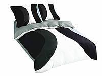 Комплект постельного белья 3D Luna Home NR 023 Oulaiya 3789 Белый, Черный, Серый