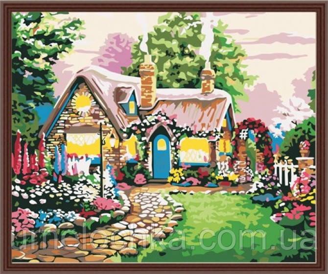 Картина по номерам  Идейка Сказочный домик 40 х 50 см (KH047)