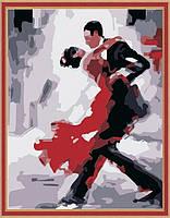 Картина по цифрам на холсте  Танго 40 х 50 см (KH121)