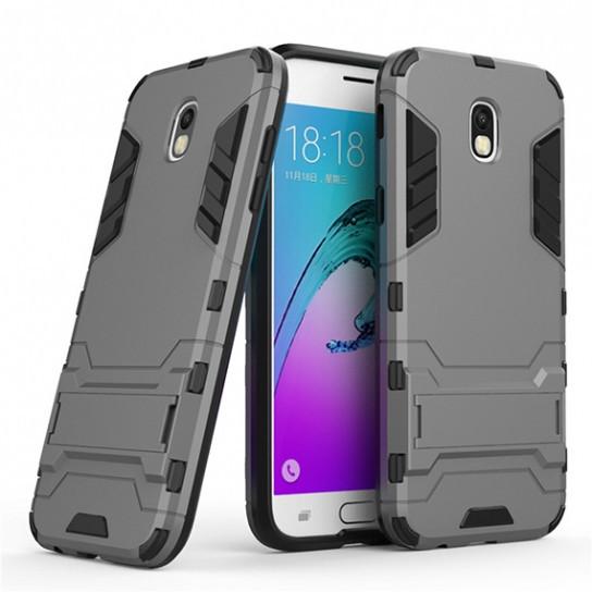 Чехол 1TOUCH Transformer для Samsung J730 Galaxy J7 (2017) с мощной защитой корпуса (Металл / Gun Metal)