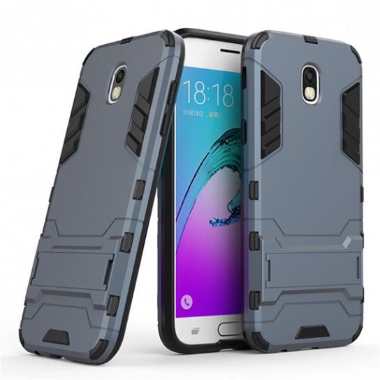 Чехол 1TOUCH Transformer для Samsung J730 Galaxy J7 (2017) с мощной защитой корпуса (Серый / Metal slate)