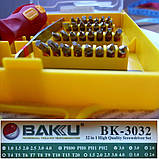 Набор инструментов BAKKU bk-3032, пинцет, рукоятка, 30 наконечников, фото 2