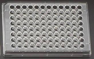 Культуральний планшет 96 лунок 128х85х17 плоскодонна поверхню зростання 0,335 см 2 стерильний