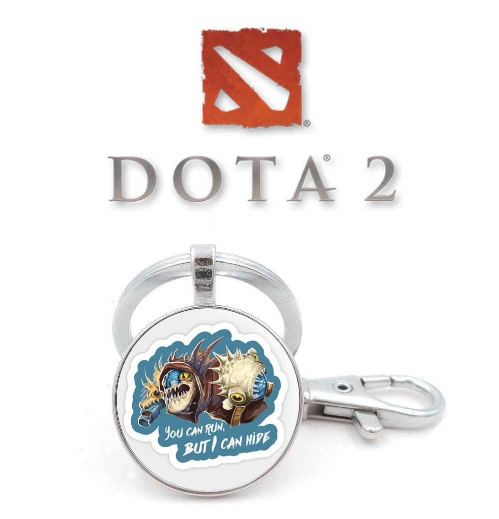 """Брелок Dota 2 """"You can't run, but I can hide"""""""