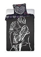 Комплект постельного белья Хлопковый NR 001 Faro 6999 Черный, Белый