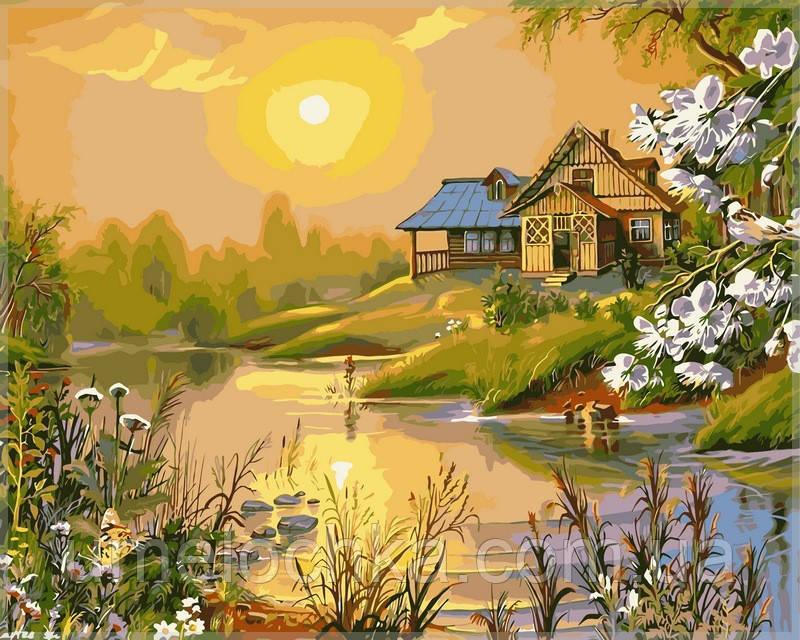 Картина по номерам  Солнечный весенний день40 х 50 см(VP164)