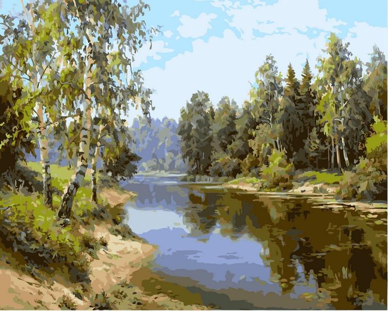 Картини по номерах 40×50 см. Летний полдень , фото 1