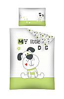 Комплект постельного белья Хлопковый Детский 2817C Detexpol 2850 Белый, Зеленый