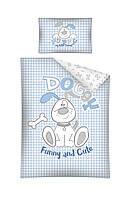 Комплект постельного белья Хлопковый Детский 2821A Detexpol 4014 Белый, Синий