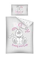 Комплект постельного белья Хлопковый Детский 2821B Detexpol 4021 Белый, Розовый, Серый