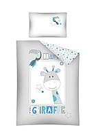 Комплект постельного белья Хлопковый Детский 2823B Detexpol 4069 Белый, Серый