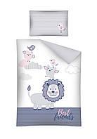Комплект постельного белья Хлопковый Детский 2825A Detexpol 4090 Белый, Синий