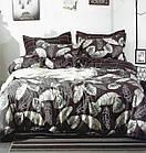Комплект постельного белья Хлопковый Молодежный 002 Luna Home 9217 Бежевый, Коричневый, фото 2