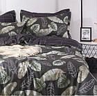 Комплект постельного белья Хлопковый Молодежный 002 Luna Home 9217 Бежевый, Коричневый, фото 3