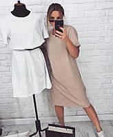 Легкое летнее платье платюшко туника сарафан миди майка, фото 1