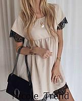 Летнее легкое платье ресничка туника , фото 1