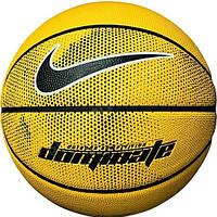 Мяч баскетбольный резиновый для игры на улице и в зале Nike Dominate размер 7, цвет - желтый, фото 1