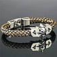 Плетеный кожаный браслет с черепом. , фото 3