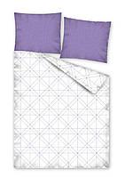 Комплект постельного белья Хлопковый 2334A Detexpol 5495 Белый, Фиолетовый