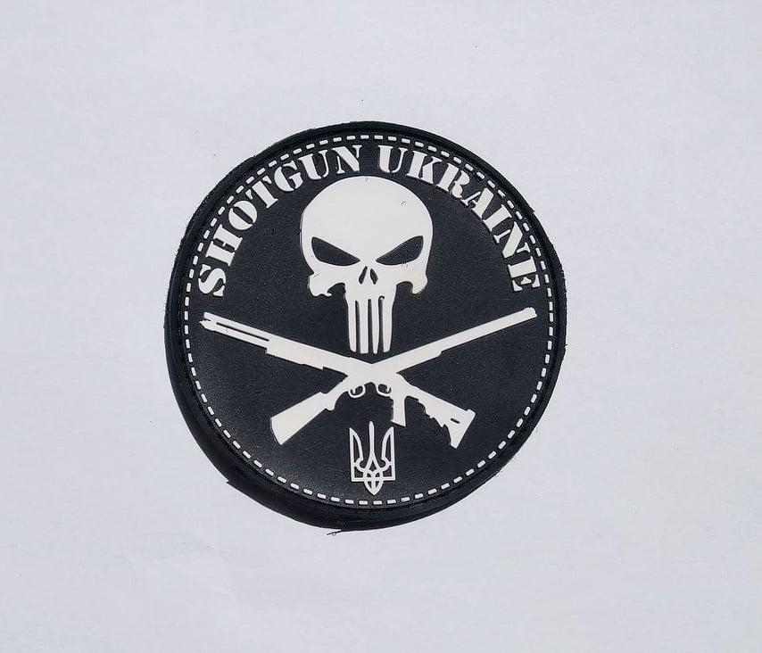 Патч Shotgun Ukraine Punisher ПВХ Black