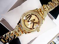 Женские кварцевые наручные часы Michael Kors Diamond Link, Gold, фото 1