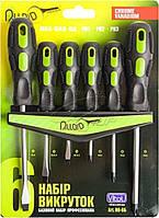 Alloid НО-6Б Набор отверток шлиц и крест 6 предметов (блистер) + планка для крепления