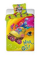 Комплект постельного белья Детский NR 1222 Faro 0838 Розовый, Зеленый, Желтый