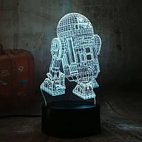 Сменная панель для 3D светильника 3D Lamp R2D2 (SP-3170), фото 1
