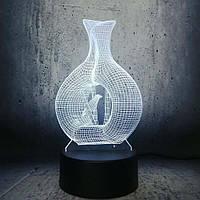 Сменная панель для 3D светильника 3D Lamp Птица (SP-3168), фото 1