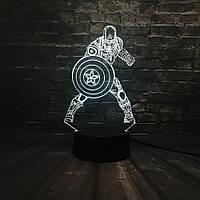 Сменная панель для 3D светильника 3D Lamp Капитан Америка v2 (SP-3162), фото 1
