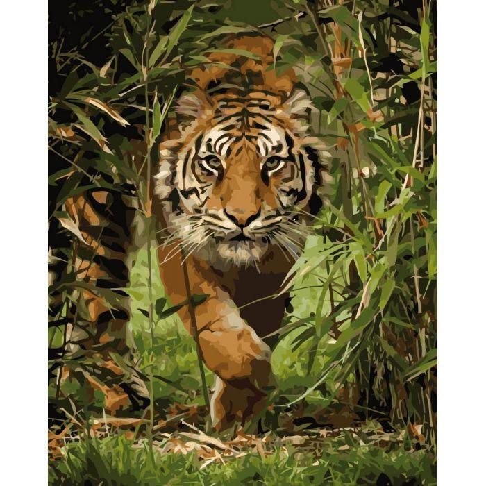 """Раскраска по номерам  """"Король джунглей"""" 40*50см KHO4043"""