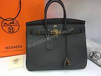 6ce046ccdd63 Женская сумка Hermes Birkin Lux 35 см в телячьей кожи в сером цвете арт  20137