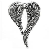 Кулон купить подвески на шею Крылья ангела, цвет старинное серебро