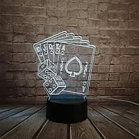 Сменная панель для 3D светильника 3D Lamp Флеш Рояль (SP-3148), фото 1