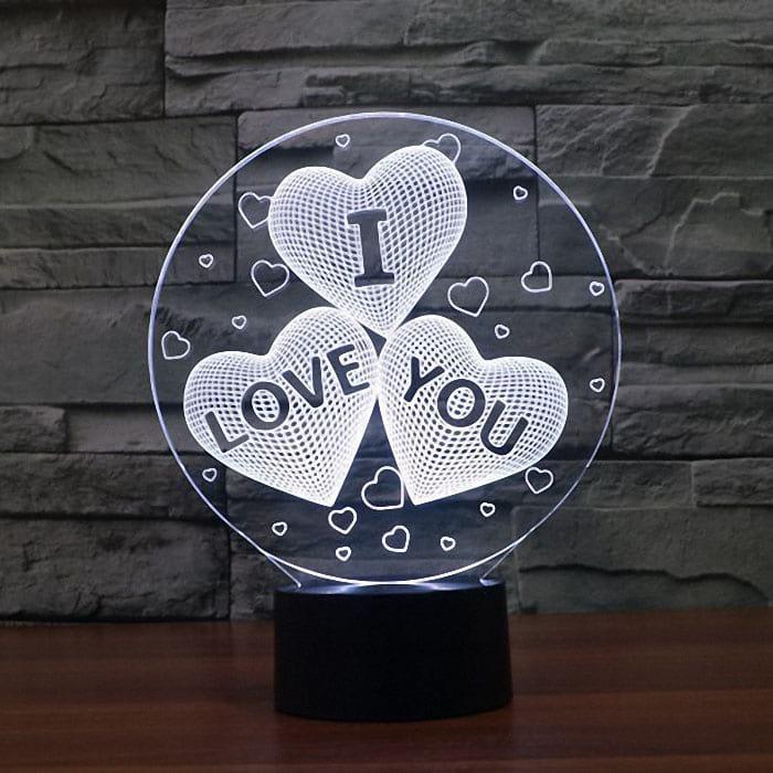 Сменная панель для 3D светильника 3D Lamp I Love You (SP-3132)