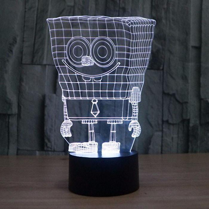 Сменная панель для 3D светильника 3D Lamp Губка Боб (SP-3124)