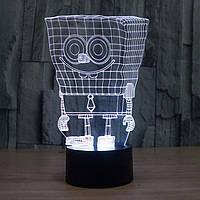 Сменная панель для 3D светильника 3D Lamp Губка Боб (SP-3124), фото 1