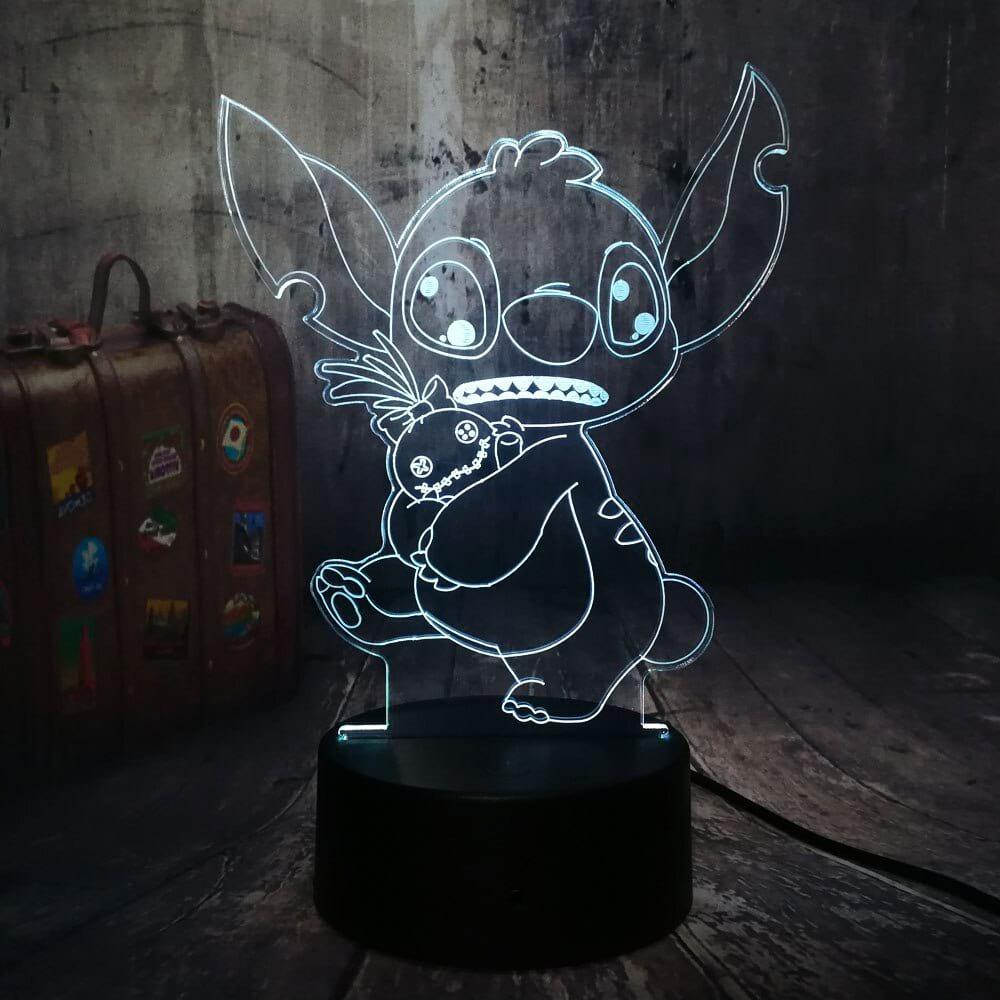 Сменная панель для 3D светильника 3D Lamp Стич (SP-3120)