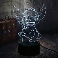 Сменная панель для 3D светильника 3D Lamp Стич (SP-3120), фото 1