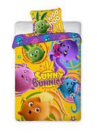 Комплект постельного белья Детский NR 1344 Faro 5406 Фиолетовый, Синий, Оранжевый