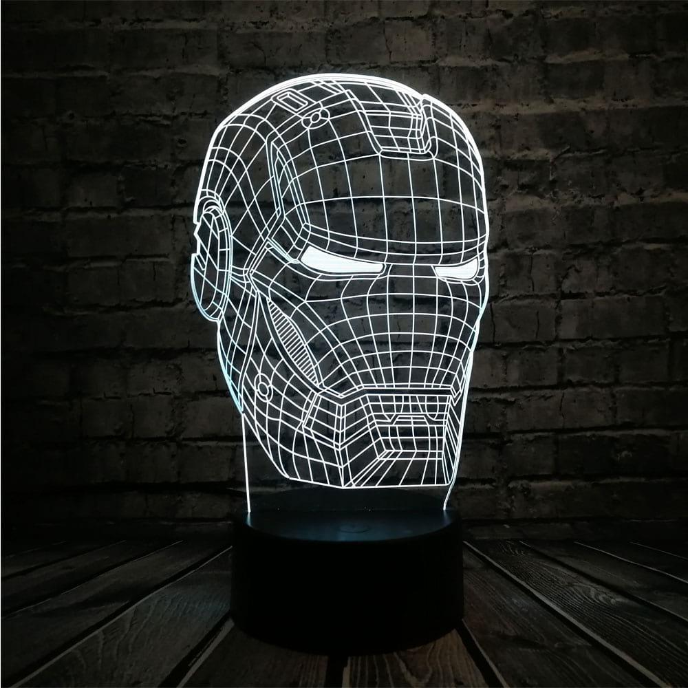 Сменная панель для 3D светильника 3D Lamp Железный Человек (SP-3104)