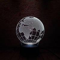 Сменная панель для 3D светильника 3D Lamp Планета Земля (SP-3102), фото 1
