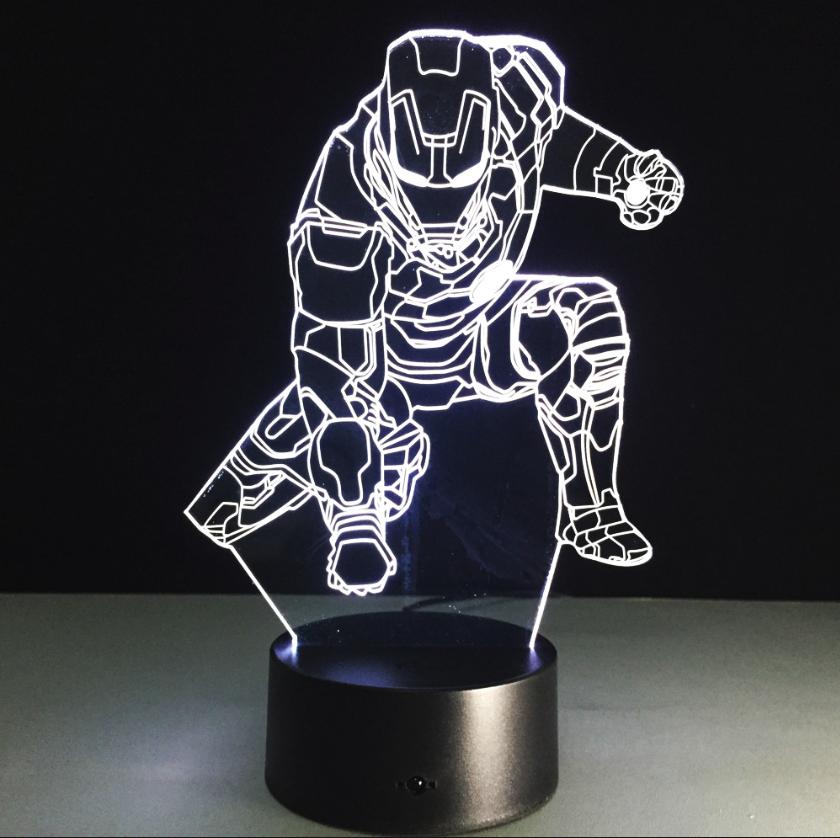 Сменная панель для 3D светильника 3D Lamp Железный человек v3 (SP-3060)