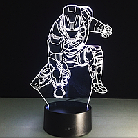 Сменная панель для 3D светильника 3D Lamp Железный человек v3 (SP-3060), фото 1